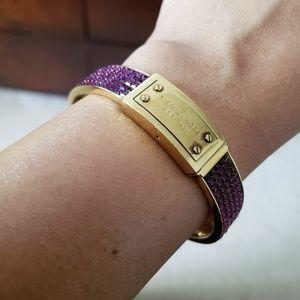 Michael Kors Purple and Gold Bracelet
